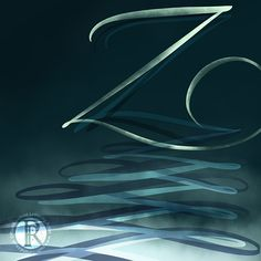 Farewell Z [a to z, alphabet, last letter, the end, watercolour lettering, watercolor, hand lettering, brush lettering, digital lettering] ©️Ruth Rowland Lettering Artist