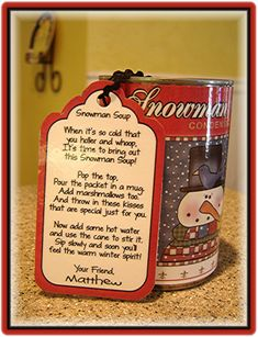 make a snowman soup or other soup can  ideas  http://countrycharmgraphics.com/index.php?main_page=index&cPath=3_37