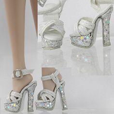 "Sherry Ivory Shoes Sandals for 12"" Fashion Royalty Silksone Barbie Doll 6 FS 22   eBay"
