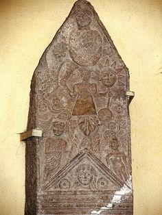 Phoenician funeral stele - Moon-Goddess Tanit with sun & moon | Flickr - Photo Sharing!
