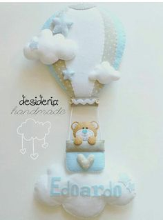 Felt Crafts Diy, Baby Crafts, Diy Crafts For Kids, Projects For Kids, Felt Banner, Felt Garland, Felt Ornaments, Shower Bebe, Baby Mobile