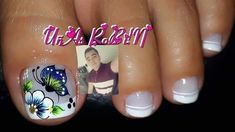 uñas decoradas #damas #uñas #vestidos #dresses #tatuadas #honor Cute Toe Nails, Cute Toes, Toe Nail Art, Fun Nails, Acrylic Nails, Cute Pedicures, Manicure And Pedicure, Butterfly Makeup, Gel Overlay
