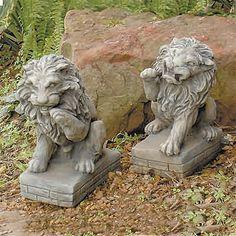 My Garden Gifts > Concrete Statues > Guardian Lions Set