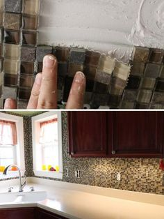24 low cost diy kitchen backsplash ideas and tutorials - Easy Kitchen Backsplash Ideas