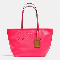 Coach :: C.O.A.C.H. TAXI ZIP TOP TOTE IN CROSSGRAIN LEATHER this would be a cute Summer purse :)