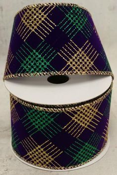 Mardi Gras Wired Ribbon Mardi Gras New Orleans Purple, Green, and Gold Deco Mesh Wreath Supplies, Deco Mesh Wreaths, Purple Diamond, Purple Velvet, Wired Ribbon, Buying Wholesale, Seasonal Decor, Mardi Gras, Gold