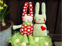 handmade fabric bunnies