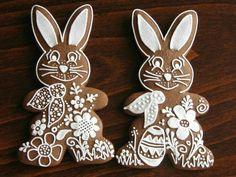 Christmas Sugar Cookies, Easter Cookies, Easter Treats, Gingerbread Cookies, Fancy Cookies, Royal Icing Cookies, Cupcake Cookies, Cupcakes, Easter Bilby