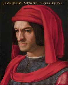 "Lorenzo de' Medici (the ""Magneficent"")(1449-92): significant patron of the arts (son of Cosimo)"