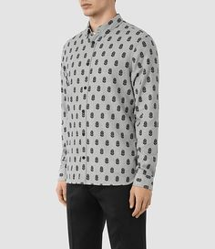 Mens Atlus Shirt (Grey) from Allsaints