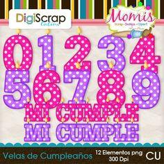 Velas de Cumpleaños - $2.00 : DigiScrap Latino