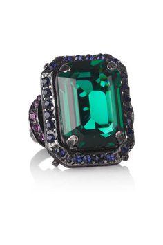 This Lanvin Tutti-Fruitti ring looks good enough to eat #emerald