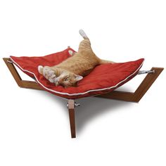 If only you could persuade a cat to use the beds you buy them! Bambú Cross Hammock Orange