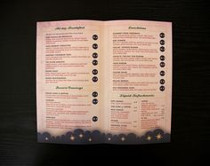 """Menu interior for a retro style cafe.     Fill your autoresponder every time using the """"Full Meal Deal"""""""