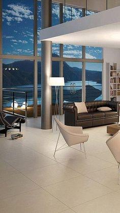 Penthouse Moderne Architektur, Innenraum, Wohnzimmer, Wohnen, Ausblick,  Projekte, Arbeit,