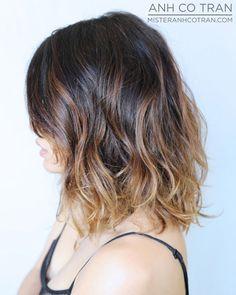 MisterAnhCoTran.com Ombre hair #hair bob layers #brunette