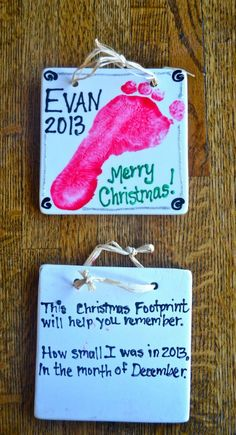 Cute Footprint Ornament idea