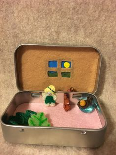 miniature Fairy in a tin play set Itty Bitty by MatiesMeadow