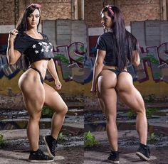 SEXY MUSCULAR HEAVY SQUAT THIGHS & GLUTES of curvy #Fitness model : if you LOVE Health, Exercise & #Fitspiration - you'll LOVE the #Motivational designs at CageCult Fashion: http://cagecult.com/mma
