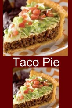 Taco Pie - Printable Recipe - My Honeys Place Mexican Dishes, Mexican Food Recipes, Healthy Recipes, Fast Recipes, Mexican Pie, Healthy Sauces, Crescent Roll Taco Bake, Crescent Rolls, Easy Dinner Recipes