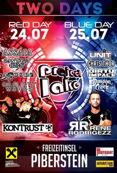24.07 & 25.07 2015 Project Lake Open Air, Red Day, Lokal, The Unit, Projects, Poster, Log Projects, Posters, Billboard