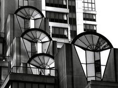 Art Deco high Rise in San Francisco. Bill Gallagher Photography, San Francisco. Highrise, Black and White