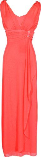 Chiffon Sleeveless Faux Wrap Bridesmaid Long Gown Prom Dress, Size: 3X, Color: Coral PacificPlex,http://www.amazon.com/dp/B00AXDD7H2/ref=cm_sw_r_pi_dp_qyuhsb1XDRZZF1E2