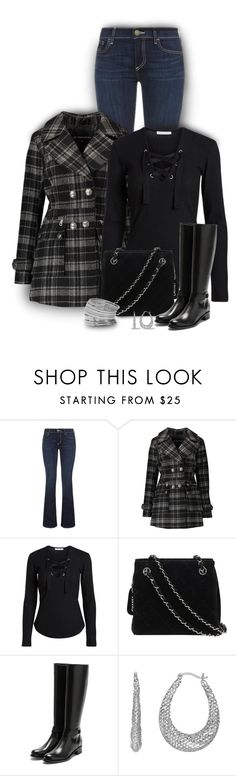 """""""Pattern Pea Coat"""" by stileclassico ❤ liked on Polyvore featuring Trilogy, True Religion, Urban Republic, Chanel, Rupert Sanderson, Miss Selfridge, jeans, pattern and coat"""