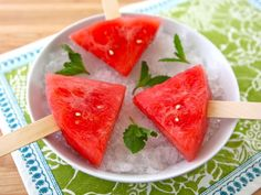 Watermelon Mojito Pops - Boozy Summer Fruit Popsicles