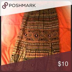 Maxi skirt Tribal print blue, pink, black, and white skirt Kendall & Kylie Skirts Maxi