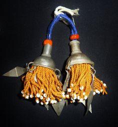 Kleine turkmenische Quasten mit Metallanhängern 1 von neemaheTribal