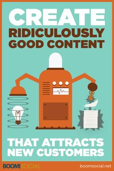 Read how to get new customers with ridiculously good content! via @kimgarst