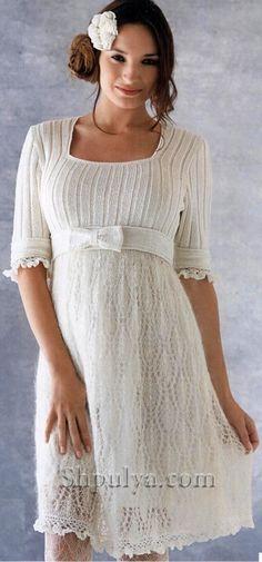 White dress. Knit