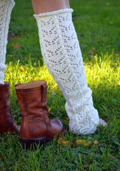 Ivory Rolled Edge Leg Warmers – StitchBee