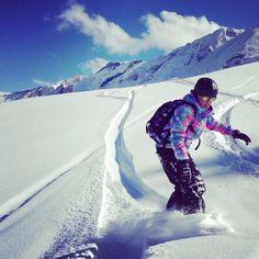 Shredding Powder in Swiss Alps