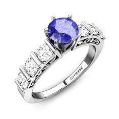 Queens Crown Tanzanite Ring