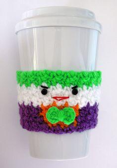 Crochet Joker coffee cup cozy-- Etsy