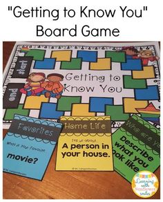 Getting to Know You Board Game ($) is perfect for the first few weeks of school when students need to familiarize themselves with one another.  Learning with Sunflower Smiles