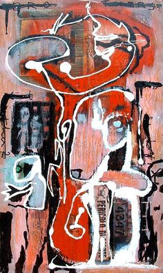 Blind Brother 2 ( acrylic and mixed media on wood, 50 x 26 cm, private collection ) Blinds, Brother, Mixed Media, Paintings, Wood, Collection, Art, Art Background, Paint