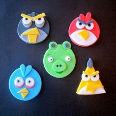 Angry Bird cupcake toppers