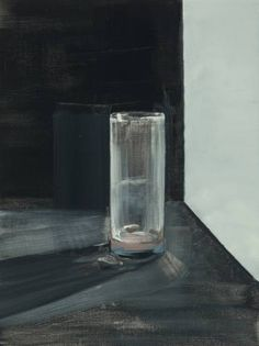 Buy Glass V, a Oil on Canvas by Laura Smith from United Kingdom. It portrays: Still Life, relevant to: small, traditional, still life, glass, grey, oil oil on linen