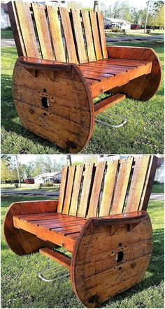 pallets rustic bench 2