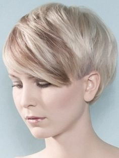 Cute short side swept pixie with bangs