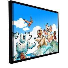 'Polar 6' by Luis Peres Framed Graphic Art on Wrapped Canvas