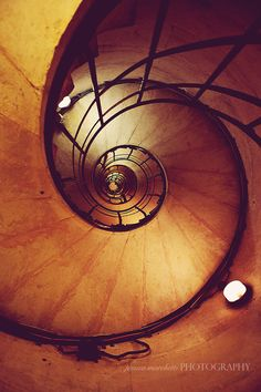 Staircase in the Arc de Triomphe, Paris VIII. Great view from the top