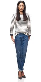 Edie Stripe Double Faced Sweat