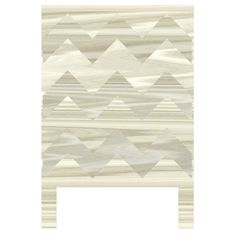 District17: Woodgrain Chevron Headboard Wall Decal for Twin Bed: Wall Decals