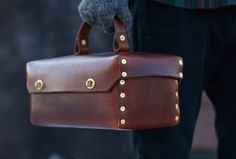 thre3f: Handmade Leather & Solid Brass Tool Box by Andrew McAteer