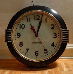 "Hammond Art Deco Large 15"" Light Up Dial Postal Telegraph Wall Clock"