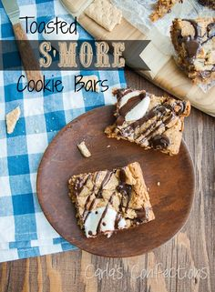 Toasted S'more Cookie Bars